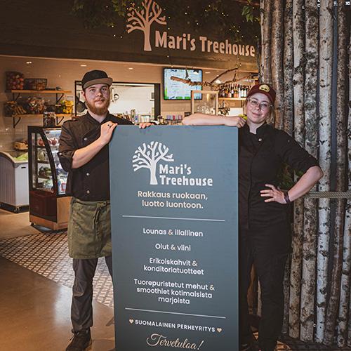 Mari's Treehouse lounasravintola, perheyritys